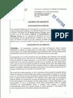 Decret d'arxiu de la Fiscalia Superior d'Extremadura