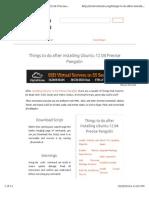 10 Thing to Do After Installing Ubuntu 12.04