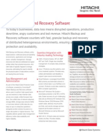 Hitachi Backup and Recovery Datasheet