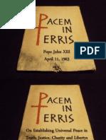 Pacem in Terris - Pope John XXIII