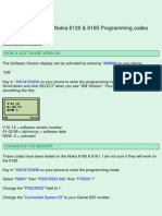 Nokia 6120 & 6160 Programming codes