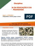 HEP Aula3 AntiguidadeOriental Grega Romana.07!03!2012