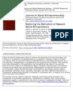Germak_Robinson_Exploring the Motivation of Nascent Social Entrepreneurs_JSE 2013
