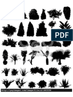 tree/ shrubs silhouet