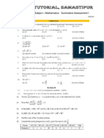 10th Sa-1 Mathematics Sample Paper 2012-10