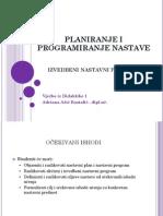 Planiranje i Programiranje Nastave