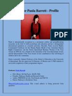 Professor Paula Barrett - Profile