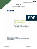 Waterloo Region LRT Value for Money Report by Deloitte Mar 4 2014