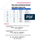Present Simple Continuous Review