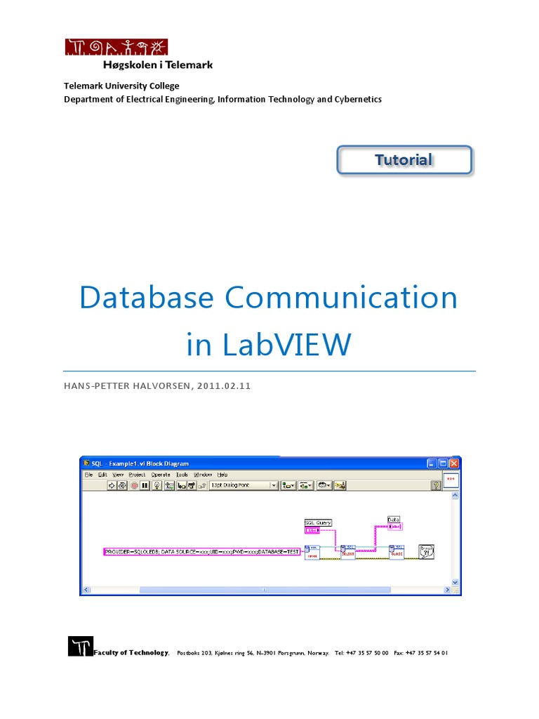 database communication in labview microsoft access sql rh scribd com LabVIEW for Beginners LabVIEW For Dummies