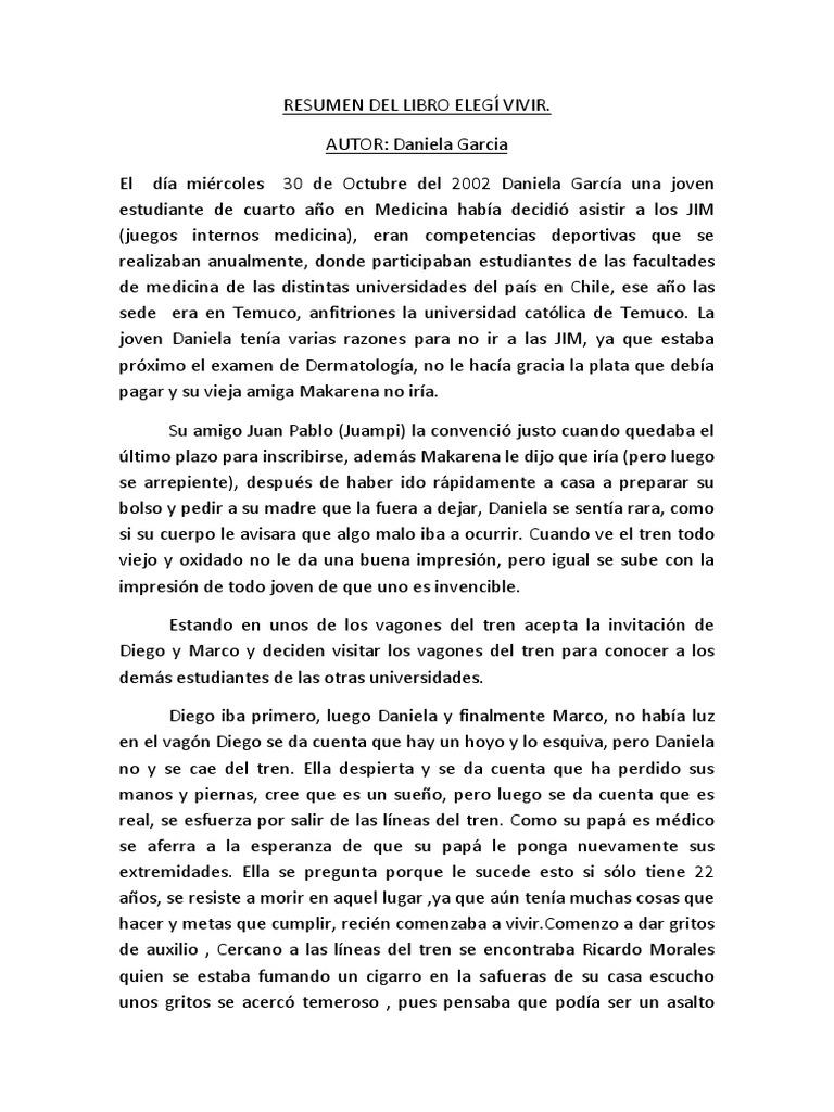 RESUMEN DEL LIBRO ELEGÍ VIVIR