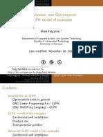 GLPK Model of Examples