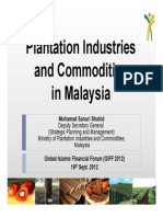 Plantation Industries and Commodities in Malasia