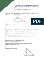 Aufgaben Zu Pythagoras
