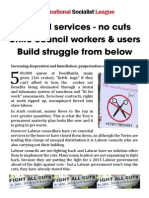 Fight the Tory austerity and council cuts