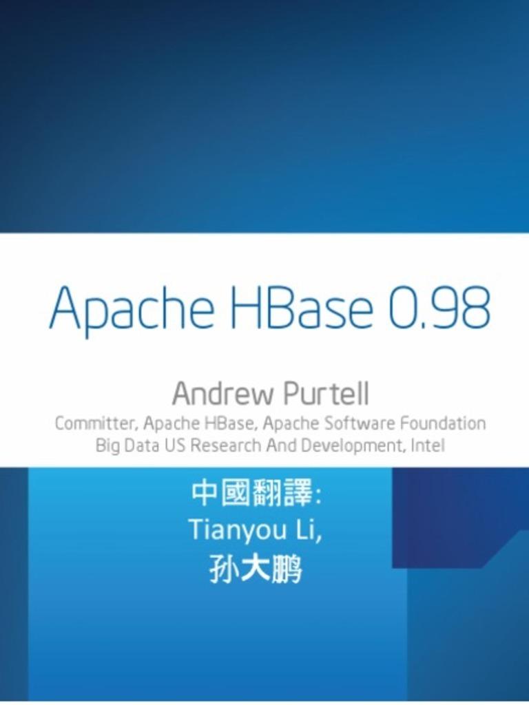 Apache HBase 0 98 | Apache Hadoop | Image Scanner
