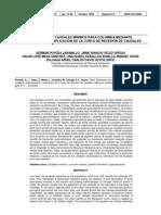 Estimación de caudales mínimos mediante la curva de recesión para Colombia - Poveda et al., 2002