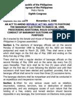 h. Ra 6679 the Barangay Elections