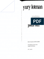 Analysis of the Poetic Text