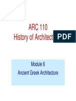 Greek Architecture Lecture module 6