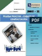 Mecanica de suelos - prueba proctor ensayo de compactación