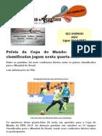 Prévia da Copa do Mundo 32 seleções classificadas jogam nesta quarta-feira