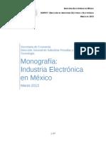 Monografia Industria Electronica Marzo 2013