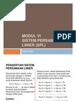 sistem persamaan linier (spl)