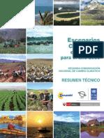 Escenarios climaticos en el Perú pARA EL AÑO 2030