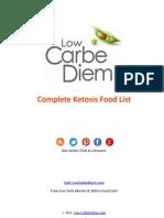 Complete Ketosis Food List