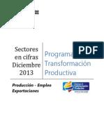 Producción Empleo Exportaciones PTP Diciembre 2013