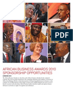 African Business2010 Sponsorship Form English