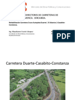 Rehabilitación Carretera cruce autopista Duarte (El abanico) - Comunidad Iberoamericana
