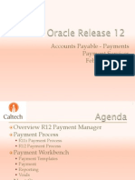 Procurement Oracle R12 Payments