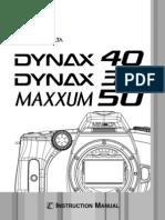 Dynax 40 Maxxum 50 E B users manual