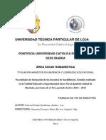 Tesis Maestria en Gerencia y Liderazgo Educativo.