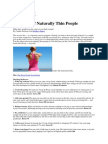 Reader's Digest - 50 Habits of Naturally Thin People