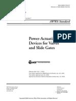 AWWA C540-02  Actuadores eléctricos para compuertas