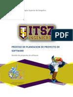 Proceso de Planeacion de Proyecto de SW