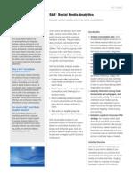 Sas Social Media Analytics Factsheet
