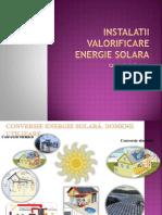 Instalatii Valorificare Termica Energie Solara