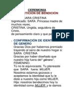 CEREMONIA DE BENDICIÓN Sara (1)