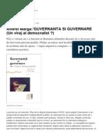 Andrei Marga GUVERNANTA SI GUVERNARE Un Viraj Al Democratiei