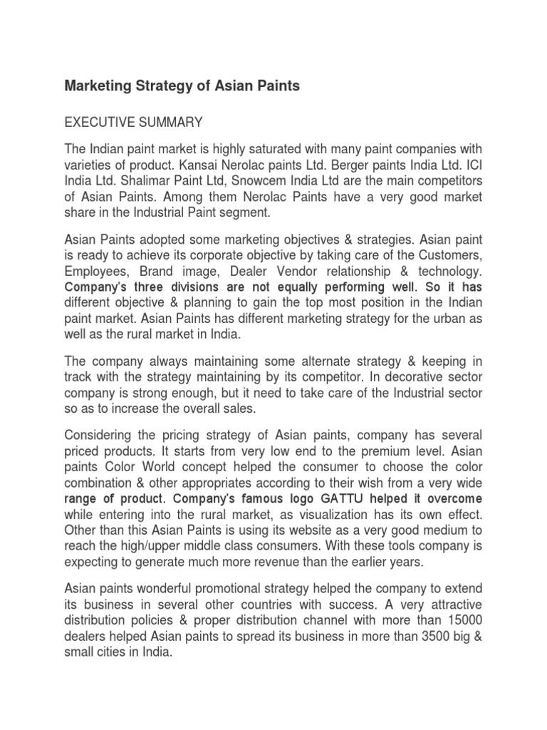 Asian Paints   Brand   Strategic Management