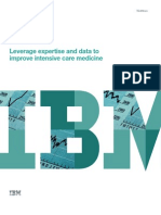 IBM White Paper - Leverage expertise and data to improve intensive care medicine