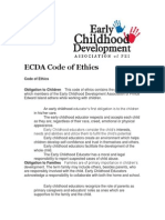 ecda code of ethics