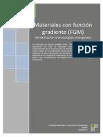 Aproximacion a Los Materiales Con Funcion Gradiente FGM