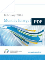 US DOE Monthly Energy Review 2/2014