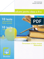 Evaluare Pentru Clasa a II-a Teste