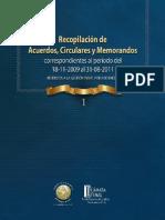 Recopilacion de Acuerdos Circulares y Memorandos Referidos a La Gestion Penal Por Audiencias